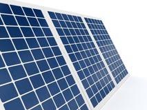 Solar battery over white background Stock Photos