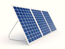 Solar battery over white background Royalty Free Stock Photography
