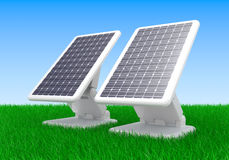 Solar battery panel Royalty Free Stock Images