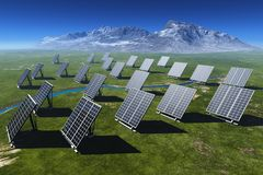 The solar battery stock photos