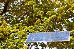 Solar battery panel outdoors Royalty Free Stock Photos