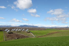 Solar battery panel in the rural landscape, Grevena, Greece Royalty Free Stock Photo