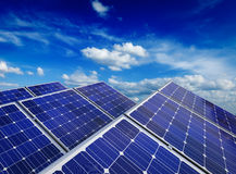 Solar battery panels against blue sky Royalty Free Stock Images