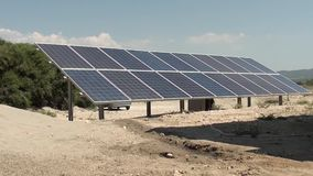 Solar battery system in Turkey2 stock video