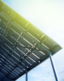 Solar battery view from below Stock Image