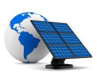 Solar battery on white background Royalty Free Stock Image