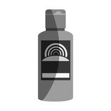 Solar blocker bottle icon. Vector illustration design Stock Image