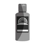 Solar blocker bottle icon Stock Image