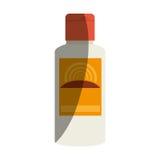 Solar blocker bottle icon Royalty Free Stock Images