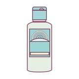 Solar blocker bottle icon Stock Photo