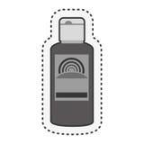 Solar blocker bottle icon. Vector illustration design Stock Images
