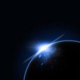 Solar Blue Eclipse Stock Image