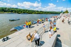 Solar boats teams Royalty Free Stock Image