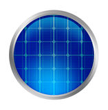 Solar button Royalty Free Stock Photos