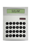 Solar Calculator Stock Photography