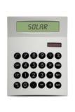 Solar Calculator. This image shows a solar calculator stock photography