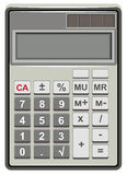 Solar Calculator for simple calculations Stock Photography