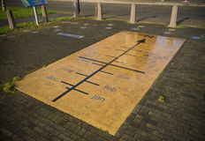 Solar calendar. On the street in Heerhugowaard, Netherlands Royalty Free Stock Photos