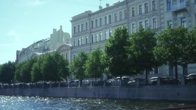 Solar canals of St. Petersburg. slow motion, 1920x1080, full hd. Solar canals of St. Petersburg stock video footage