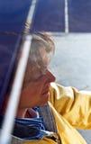 Solar car driver Stock Photo