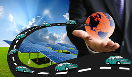 Solar car for save the earth Royalty Free Stock Image