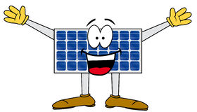 Solar cartoon panel Stock Photography