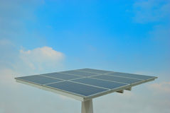 Solar cell. In the bright day Royalty Free Stock Photography