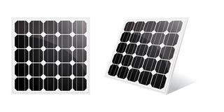 Solar cell. Solar panel isolated on a white. Vector illustration Stock Photo