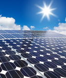 Solar cell against the sun Stock Photography