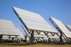 Solar cell array and power sation Stock Images