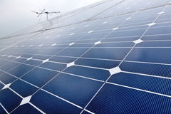 Solar cell battery panel Stock Images