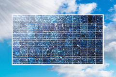 Solar cell on blue sky royalty free stock photos