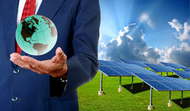Solar cell business Royalty Free Stock Photos