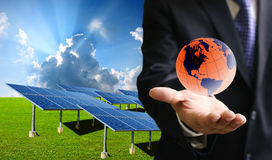 Solar cell business Stock Photo