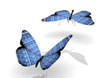 Solar cell butterfly Stock Photography