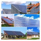 Solar cell clollage Royalty Free Stock Photo