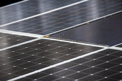 Close up solar cell background picture stock photos
