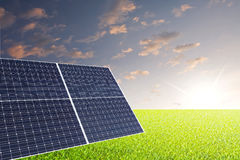 Solar cell concept Stock Image