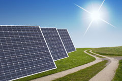 Solar cell concept Stock Photography