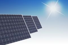 Solar cell concept Stock Images