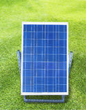 Solar cell in demonstration installed outdoor Stock Image