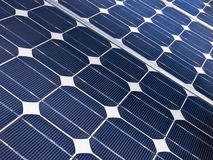 Solar cell detail. Detail of a solar cell panel on a beatiful sunny day Royalty Free Stock Image