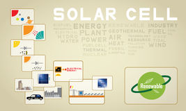 03 solar cell icon Stock Images