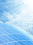 Solar cell installation Royalty Free Stock Photos