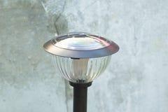 Solar cell  lamp for garden llight Royalty Free Stock Photo