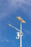 Solar cell lamp on the island of Thailand. Royalty Free Stock Photography