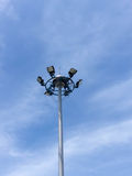 Solar cell lamp on the island of Thailand. Royalty Free Stock Image