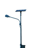Solar cell lamp post Stock Images