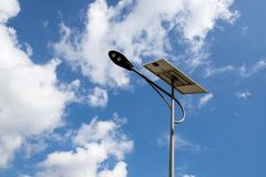 Solar cell light royalty free stock images