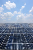 Solar cell over the blue sky Stock Photography